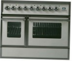 ILVE QDC-90W-MP Antique white Kitchen Stove type of oven electric type of hob gas