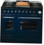 ILVE PD-90FN-MP Blue Kitchen Stove type of oven electric type of hob gas