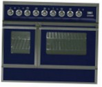 ILVE QDC-90FW-MP Blue Kitchen Stove type of oven electric type of hob combined