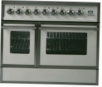 ILVE QDC-90FW-MP Antique white Kitchen Stove type of oven electric type of hob combined