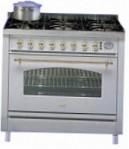 ILVE P-90RN-MP Blue Kitchen Stove type of oven electric type of hob gas