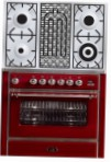 ILVE M-90BD-MP Red Kitchen Stove type of oven electric type of hob gas