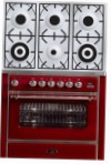 ILVE M-906D-MP Red Kitchen Stove type of oven electric type of hob gas
