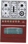 ILVE PN-80-VG Red Kitchen Stove type of oven gas type of hob gas