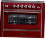 ILVE M-90B-MP Red Kitchen Stove type of oven electric type of hob combined