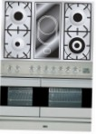 ILVE PDF-100V-VG Stainless-Steel Kitchen Stove type of oven gas type of hob combined