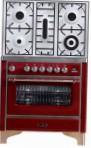 ILVE M-90PD-VG Red Kitchen Stove type of oven gas type of hob gas